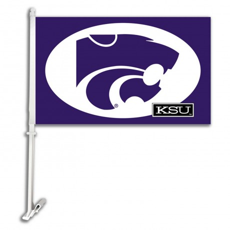 Kansas State Wildcats NCAA Double Sided Car Flag