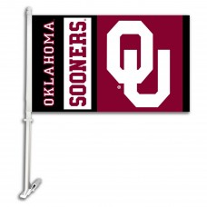 Oklahoma Sooners NCAA Double Sided Car Flag