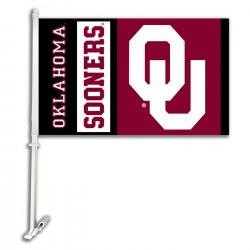 Oklahoma Sooners NCAA Double Sided Car Flag