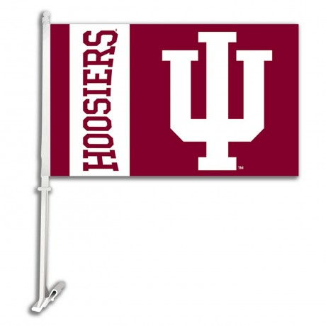 Indiana Hoosiers NCAA Double Sided Car Flag
