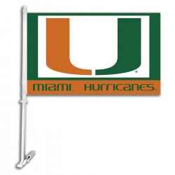 Miami Hurricanes NCAA Double Sided Car Flag