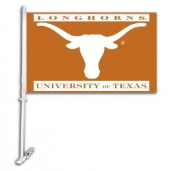 Texas Longhorns NCAA Double Sided Car Flag