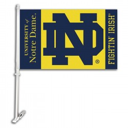 Notre Dame Fighting Irish NCAA Double Sided Car Flag