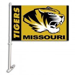Missouri Tigers NCAA Double Sided Car Flag