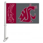 Washington State Cougars NCAA Double Sided Car Flag