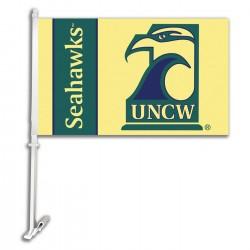 North Carolina Wilmington Seahawks NCAA Double Sided Car Flag