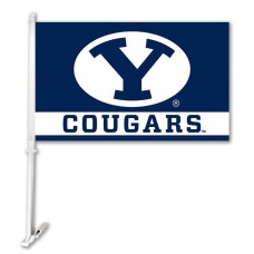 Brigham Young Cougars 11-inch by 18-inch Two Sided Car Flag