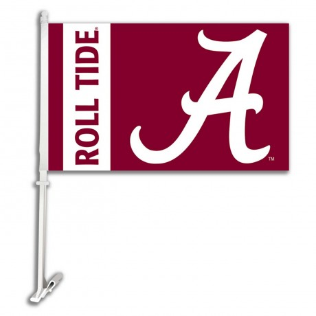 Alabama Crimson Tide NCAA Double Sided Car Flag
