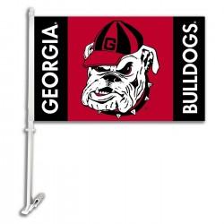 Georgia Bulldogs NCAA Double Sided Car Flag