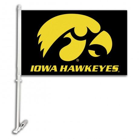 Iowa Hawkeyes NCAA Double Sided Car Flag