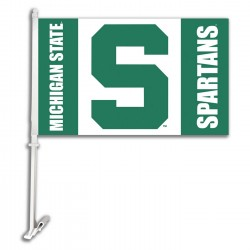 Michigan State Spartans NCAA Double Sided Car Flag