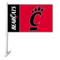 Cincinnati Bearcats NCAA Double Sided Car Flag