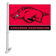 Arkansas Razorbacks NCAA Double Sided Car Flag