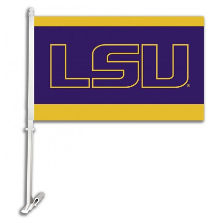 LSU Tigers NCAA Double Sided Car Flag