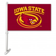 Iowa State Cyclones Red Two Sided Car Flags