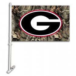 Georgia Bulldogs Camo Two Sided Car Flag