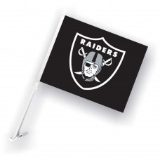 Oakland Raiders Two Sided Car Flag