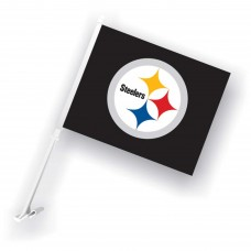 Pittsburgh Steelers Two Sided Car Flag
