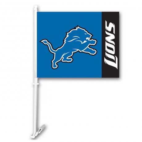Detroit Lions Two Sided Car Flag
