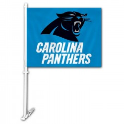 Carolina Panthers Two Sided Car Flag