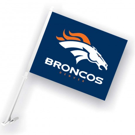 Denver Broncos Two Sided Car Flag
