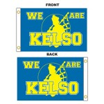 Custom 2' x 3' Polyester Flags Double Sided