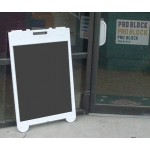 Poly Leaner Sidewalk Sign with Chalkboard or Dry Erase Insert