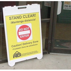 Poly Leaner Sidewalk Sign With Color Poster Insert