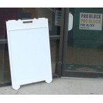 Poly Leaner Sidewalk Sign With Corex Inserts