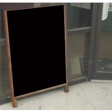Hardwood Leaner Sidewalk Sign with Chalkboard or Dry Erase Panel