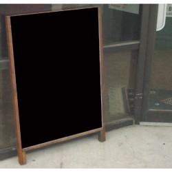Hardwood Leaner Sidewalk Sign With Acrylic Insert