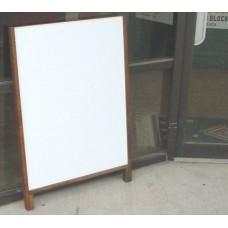 Hardwood Leaner Sidewalk Sign with Black or White Corex Insert
