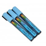 "1/4"" Chisel Tip Neon Liquid Chalk Marker - Blue 3 Pack"