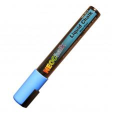 "1/4"" Chisel Tip Neon Liquid Chalk Marker - Blue"