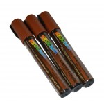 "1/4"" Chisel Tip Earth Tone Liquid Chalk Marker - Chocolate Brown 3 Pack"