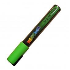 "1/4"" Chisel Tip Neon Liquid Chalk Marker - Green"