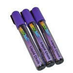 "1/4"" Chisel Tip Neon Liquid Chalk Marker - Purple 3 Pack"