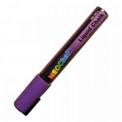 "1/4"" Chisel Tip Neon Liquid Chalk Marker - Purple"