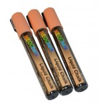 "1/4"" Chisel Tip Earth Tone Liquid Chalk Marker - Peach 3 Pack"