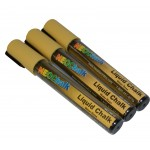 "1/4"" Chisel Tip Earth Tone Liquid Chalk Marker - Pale Yellow 3 Pack"