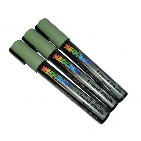 "1/4"" Chisel Tip Earth Tone Liquid Chalk Marker - Sage Green 3 Pack"