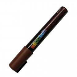 "1/4"" Chisel Tip Earth Tone Liquid Chalk Marker - Chocolate Brown"