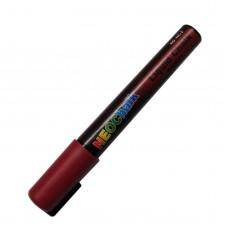 "1/4"" Chisel Tip Earth Tone Liquid Chalk Marker - Brick Red"
