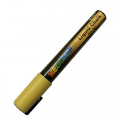 "1/4"" Chisel Tip Earth Tone Liquid Chalk Marker - Pale Yellow"