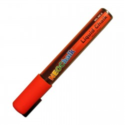 "1/4"" Chisel Tip Neon Liquid Chalk Marker - Red"