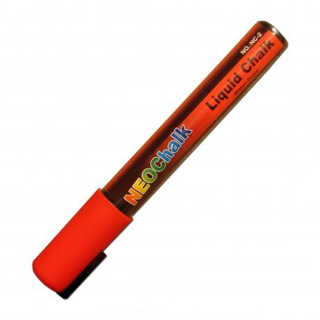 """1/4"""" Chisel Tip Neon Liquid Chalk Marker - Red"""