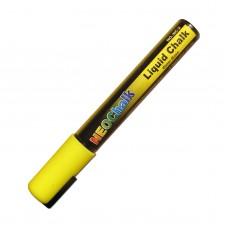 "1/4"" Chisel Tip Neon Liquid Chalk Marker - Yellow"