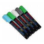 "1/4"" 12th Man Chisel TIp Waterproof Marker Pens - 5 pc Set"