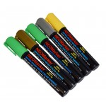"1/4"" Shamrock Chisel Tip Waterproof Marker Pens - 5 Pc Set"