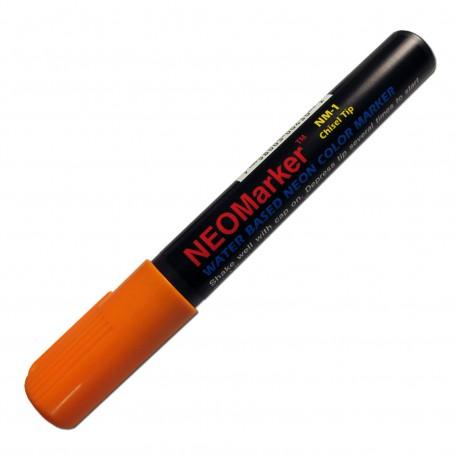 "1/4"" Chisel Tip Orange Waterproof Sign & Art Marker Pen"